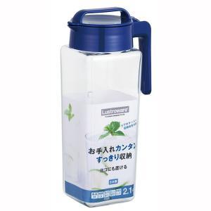 麦茶ポット 水差し ピッチャー 縦置き 横置き 冷蔵庫ポット 2.1リットル 耐熱容器 熱湯対応 日本製|kanaemina