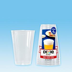 クリアーグラス ビールカップ430ml 4個入 kanaemina