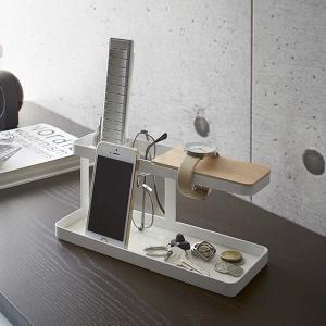 リモコン収納ラック スマホスタンド 卓上整理 小物収納 タワー tower ホワイト|kanaemina
