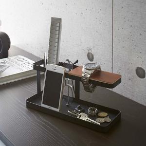 リモコン収納ラック スマホスタンド 卓上整理 小物収納 タワー tower ブラック|kanaemina