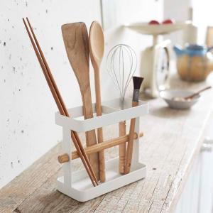 キッチンツールスタンド 調理器具ホルダー キッチン収納雑貨 トスカ 白 ホワイト|kanaemina