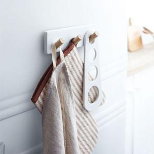 キッチンツールフック マグネット式 収納ラック 3連 おしゃれ 収納雑貨 トスカ 白 ホワイト|kanaemina