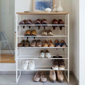 シューズラック 靴箱 下駄箱 玄関収納 靴収納棚 タワー 6段 スリム ホワイト 幅66 奥行25 高さ87cm|kanaemina