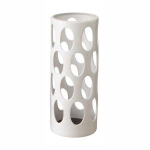 傘立て かさたて 玄関収納 陶器 白 おしゃれ アーバン ホワイト|kanaemina