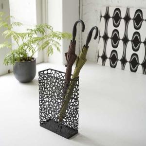 傘立て かさたて 玄関収納 コンパクトスリム 省スペース 角型 ネスト ブラック|kanaemina