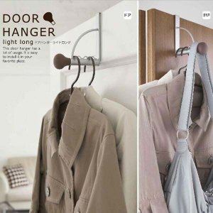 ドア用フックハンガー ドアハンガー 扉用フック コート 洋服 帽子かけ 衣類掛け ブラウン|kanaemina