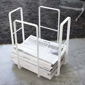 新聞ラック 新聞紙収納 受けストッカー ニューズラック タワー tower ホワイト|kanaemina