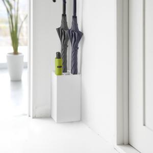傘立て かさたて 玄関収納 アンブレラスタンド スマート 6本用 ホワイト|kanaemina