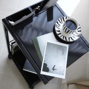 サイドテーブルワゴン ナイトテーブル ソファー ベッド 横 キャスター付き タワー ブラック|kanaemina