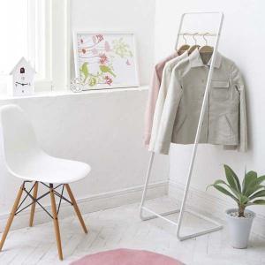 コートハンガーラック シンプル おしゃれ モダンウッド ホワイト 洋服掛け 衣類かけ|kanaemina