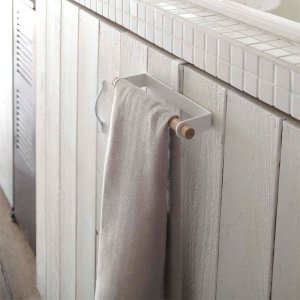キッチンタオルハンガー シンク下扉 布巾掛け 手ぬぐい 手布巾 トスカ 白 ホワイト|kanaemina