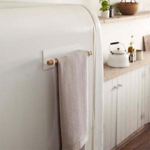 キッチンタオルハンガー マグネット式 壁面布巾掛け トスカ 白 ホワイト|kanaemina