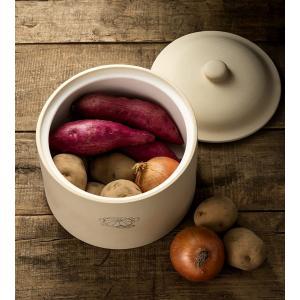 食品保存容器 野菜ストッカー 根菜ストッカー 珪藻土フードコンテナ Lサイズ おしゃれ 保存箱|kanaemina