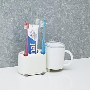 歯ブラシスタンド はぶらしホルダー ハブラシ立て収納 歯磨き粉|kanaemina