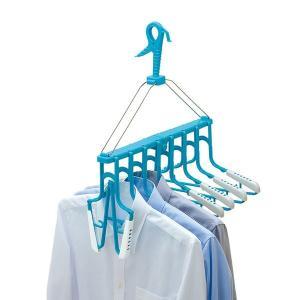 ■商品説明 かけ外し簡単な畳めるワンタッチハンガー! トレーナーやワイシャツ、Tシャツが簡単に掛けら...