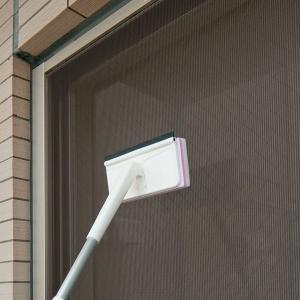 窓ガラス拭き用 網戸用お掃除グッズ  激落ちくん 伸縮ワイパー 窓ふき清掃 汚れ取り|kanaemina