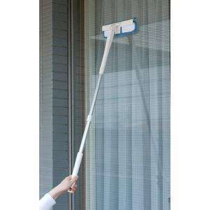 窓ガラスワイパー 窓ふき 窓拭きモップ 水切り しぼれる回転窓みがき 伸縮式 最長92cm kanaemina