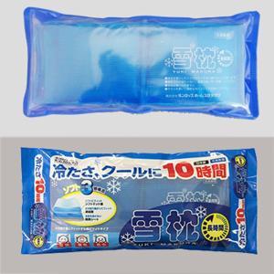 ひんやり枕 雪枕ピロー 冷却ジェル 3層構造 冷たい やわらかい クール 氷枕 長持ち 長時間 14個セット|kanaemina