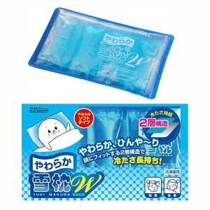 ひんやり枕 雪枕ピロー 冷却ジェル 2層構造 冷たい やわらかい クール 氷枕 長持ち 長時間 14個セット|kanaemina