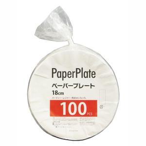 紙皿 業務用ペーパープレート 18cm 100枚入 kanaemina