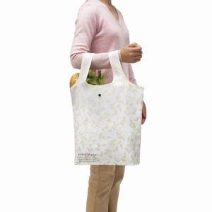 お買い物バッグ 買い物バック 折り畳み 買い物袋 エコバッグ 手提げ トートバッグ モダンリーフ|kanaemina