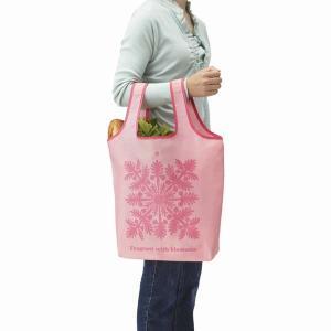 お買い物バッグ 買い物バック 折り畳み 買い物袋 エコバッグ 手提げ トートバッグ ブロッサムピンク|kanaemina