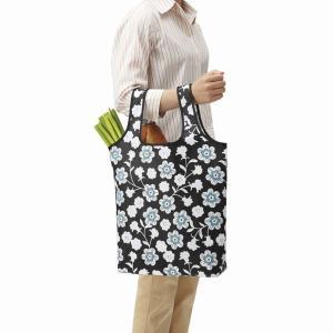 お買い物バッグ 買い物バック 折り畳み 買い物袋 エコバッグ 手提げ トートバッグ ノーブルフラワー|kanaemina