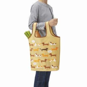 お買い物バッグ 買い物バック 折り畳み 買い物袋 エコバッグ 手提げ トートバッグ 犬と猫|kanaemina
