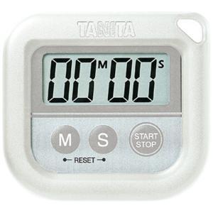 キッチンタイマー 防水 タニタ 丸洗い クッキング 調理用時計 100分計 白 ホワイト|kanaemina