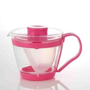 ティーポット ティーサーバー 耐熱ガラス ピンク|kanaemina