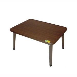 折りたたみテーブル コンパクト 折れ脚 座卓 作業台 幅60cm ブラウン|kanaemina