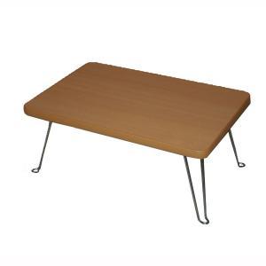 ミニテーブル 折りたたみ 折り畳み 折れ脚 折れ足テーブル 幅45cm ナチュラル|kanaemina