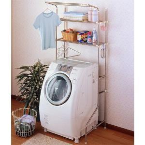 洗濯機ラック ステンレス製(サニタリーラック/収納棚) kanaemina