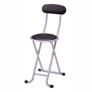 ミーティングチェア 会議椅子 パイプイス 折りたたみ 背もたれ付き ブラック|kanaemina