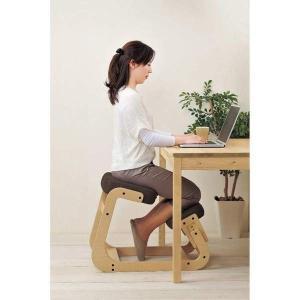 スレッドチェア 学習椅子 背筋が伸びる 姿勢矯正イス キッズチェアー 子供用 大人用 ブラウン kanaemina
