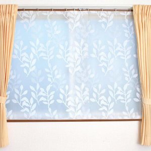 冷気遮断カーテン 腰高窓用 腰窓 隙間風対策グッズ  幅100x丈145cm 2枚入 取り付け用Sカン付き