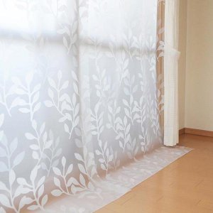 冷気遮断カーテン 出窓用 掃き出し窓 隙間風対策グッズ 幅100x丈225cm 2枚入 取り付け用Sカン付き|kanaemina