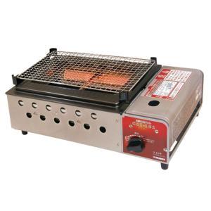 カセットコンロ 遠赤外線グリル 卓上ガスコンロ 焼肉 野菜焼き グリルプレート付き|kanaemina