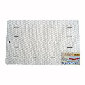 浴室内マット バスマット 防カビ お風呂マット ロング ホワイト|kanaemina
