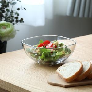 小鉢 ボウル 深鉢 和食器 洋食器 サラダ デザート椀 ガラス 透明 クリアー 幅16.5cm 日本製 3個セット|kanaemina