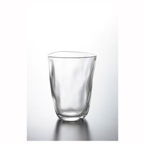 コップグラス タンブラーグラス ガラス製 おしゃれ 手捻り てびねり 290ml 3個セット|kanaemina