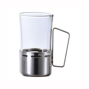 湯割りグラス コップ 耐熱ガラス おしゃれ ホルダー付きマグ 290ml|kanaemina