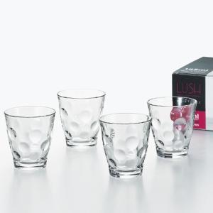 コップグラス タンブラーグラス ガラス製 おしゃれ ラッシュ 4個セット 185ml|kanaemina