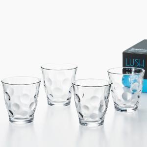コップグラス タンブラーグラス ガラス製 おしゃれ ラッシュ 4個セット 240ml|kanaemina