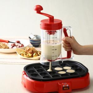 たこ焼き器 粉つぎ名人 かき混ぜ機 粉もの注ぎ器 タコヤキ便利グッズ たこやき 簡単調理