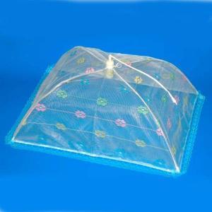 洗える卓上カバー 卓上蚊帳 テーブル虫除けネット 長方形 Mサイズ 幅50×奥行63cm|kanaemina
