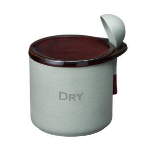 ドライポット 素焼き陶器 茶筒 スプーン付き お塩入れ おしゃれ 300ml kanaemina