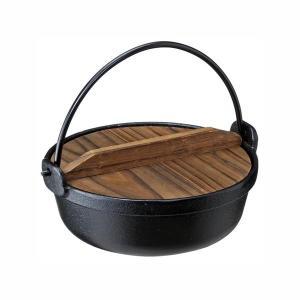 いろり鍋 囲炉裏鍋 鉄鋳物製 田舎鍋 IH対応 17cm(1人〜2人用)|kanaemina