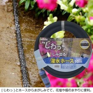 散水ホース 灌水ホース 10m じわっとしみ出る散水ホース|kanaemina