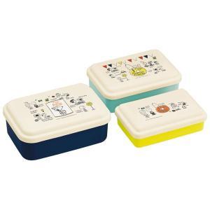 お弁当箱 ランチボックス 保存容器 3ケース スヌーピー 入れ子式 電子レンジ対応|kanaemina